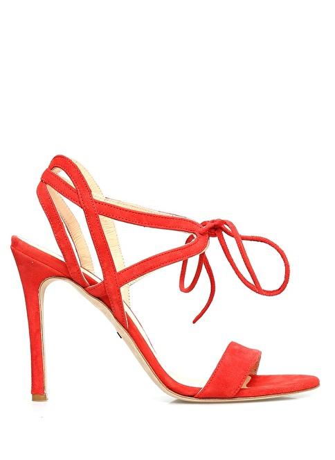 Beymen Collection İnce Topuklu Bağcıklı Ayakkabı Kırmızı
